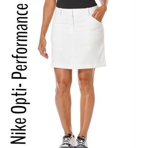 Nike White Opti Stretch Golf Performance Skort NWT